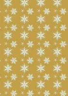 Gold Snow Printable Scrapbook Paper