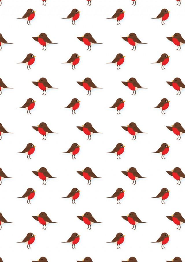 Robins Scrapbook Paper