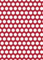 White Polka Dot On Crimson Printable Scrapbook Paper