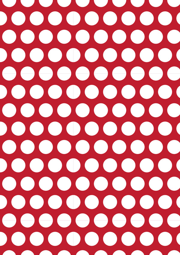 White Polka Dot On Crimson Printable Scrapbook Paper
