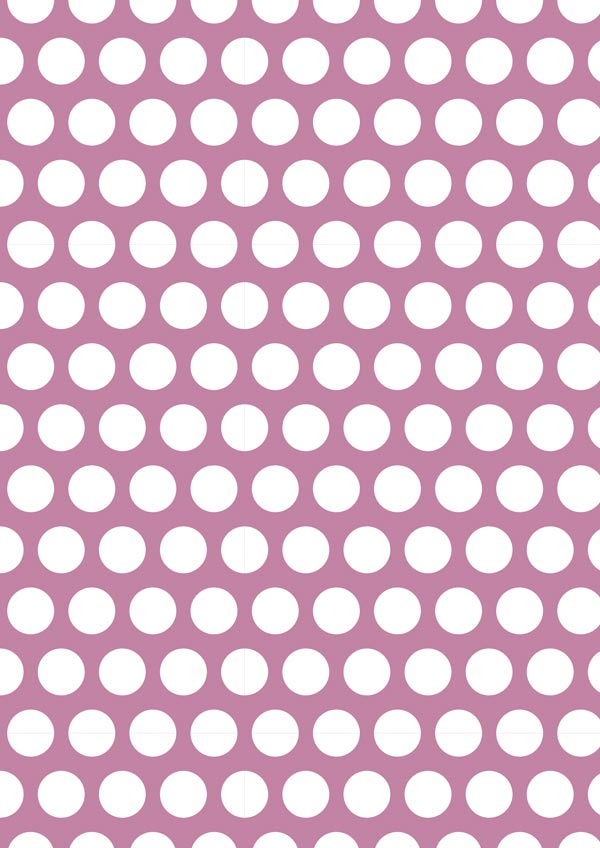 White Polka Dot On Magenta Printable Scrapbook Paper