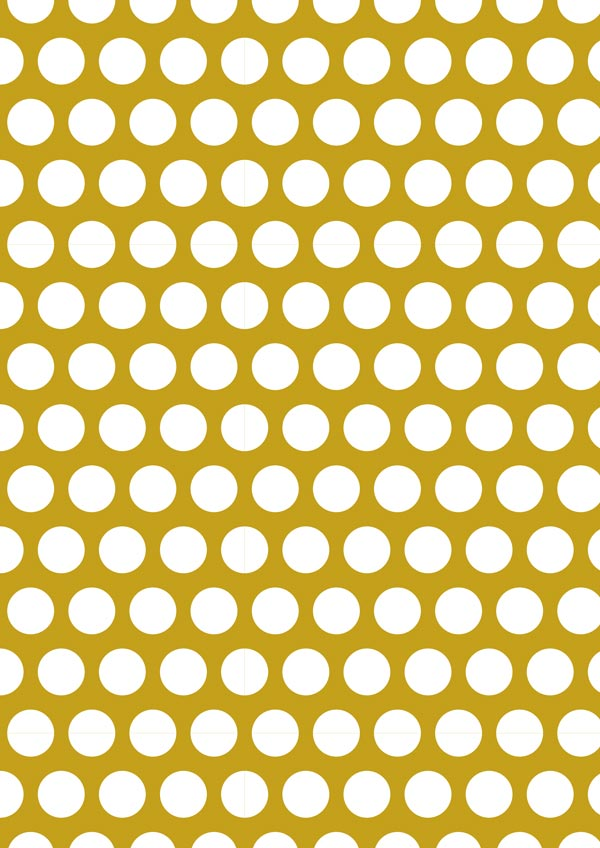 White Polka Dot On Mustard Printable Scrapbook Paper