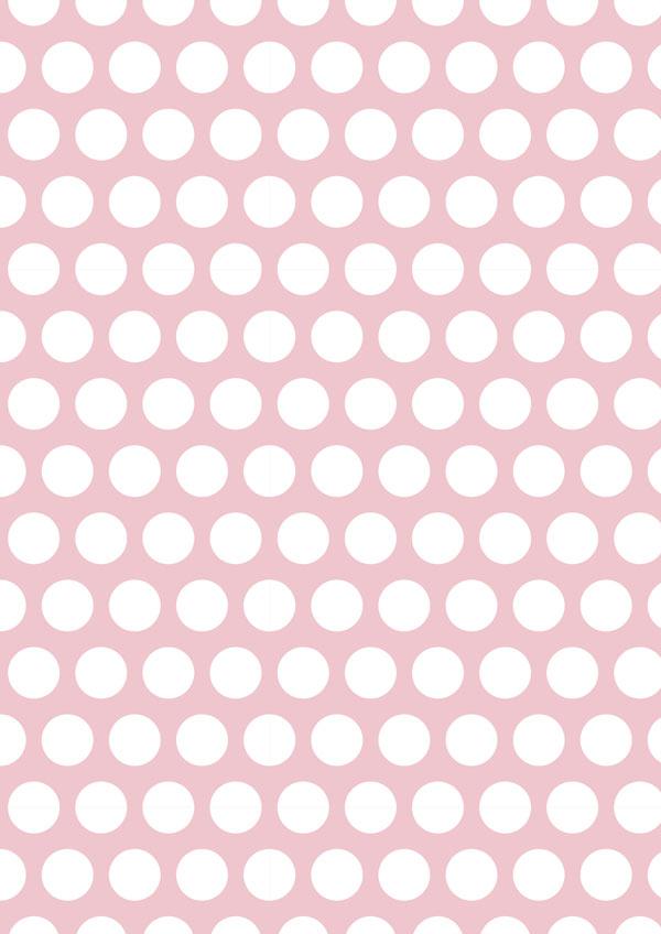 Polka Dot On Pale Pink Printable Scrapbook Paper